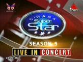 Sirasa Super Star Live In Concert 01/06/2013